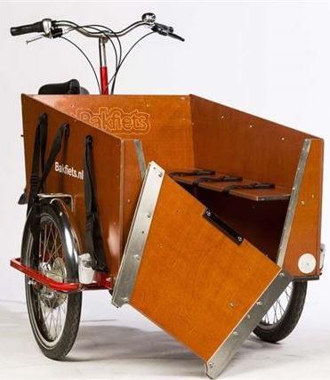 Frontlucka hund trehjulig lådcykel